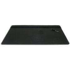 1000 Series Classic Leather 34 x 20 Top-Rail Desk Pad in Black