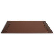 3200 Series Leather 34 x 20 Side-Rail Desk Pad in Rustic Brown