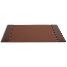 3200 Series Leather 25.5 x 17.25 Side-Rail Desk Pad in Rustic Brown