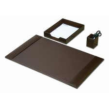 Leather 3-Piece Desk Set