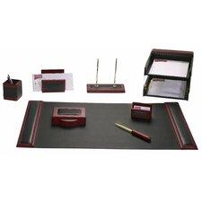 Leather 10 Piece Desk Set