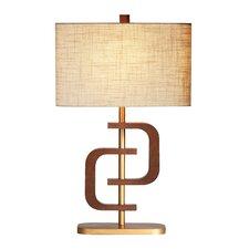 "Wood Wonder 30"" H Table Lamp with Rectangular Shade"