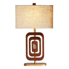 "Wood Wonder 31.5"" H Table Lamp with Rectangular Shade"