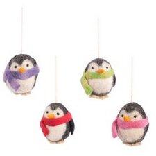 4-tlg. 4-tlg. Deko-Anhänger-Set Pinguin