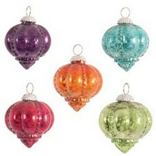 Foiled Shankh Finial Ornament (Set of 10)