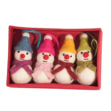 Set of 4 Snowmen Hanging Figurines (Set of 4)