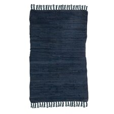 Hand-Woven Blue Area Rug