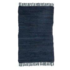 Handgewebter Teppich in Blau