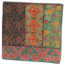20 cm Wandfliese Bright Stripey aus Terrakotta