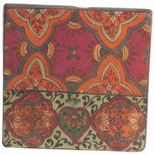 20 cm Wandfliese Oriental aus Terrakotta