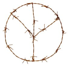 Deko-Kranz Peace Stacheldraht