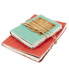 2 Piece Fabric Notebook Set