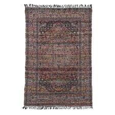 Handgewebter Teppich in Lila