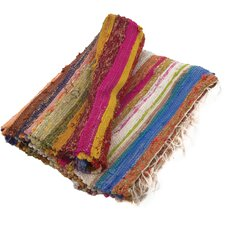Hand-Woven Multi-Coloured Area Rug