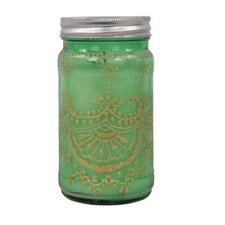 Kerze im Glasbehälter