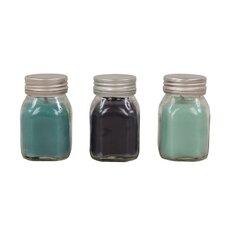 3-tlg. 3-tlg. Kerze im Glasbehälter-Set Ocean
