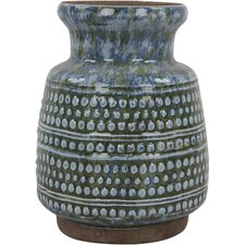 Distressed Azul Vase