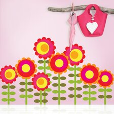 Nature Happy Flowers Wall Decal (Set of 8)