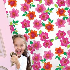 "French Bull 2.17' x 26"" Rose Floral Wallpaper"