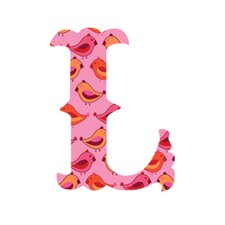 """Luv Letters """"L"""" Wall Decal"""