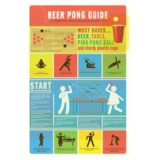 Beer Pong Guide Wall Decal