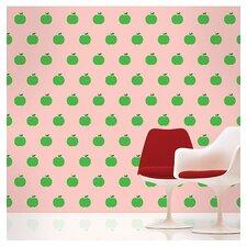 """Pink/Green 94""""L x 26""""W Apple Wallpaper"""