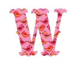 "Luv Letters ""W"" Wall Decal"