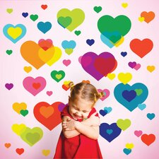 Just for Fun Overlapping Hearts Wall Decal