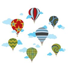 Hot Air Balloons Wall Decal 46 Piece Set
