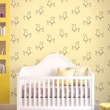 "2.17' x 26"" Bunny Up Figural Wallpaper"