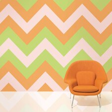 "2.17' x 26"" Chevron Wallpaper"