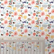 "Wee Gallery 2.17' x 26"" Jungle Floral Wallpaper"