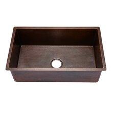 Copper Large Undermount Single Bowl Kitchen Sink