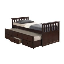 Marco Island Captain's Bed with Trundle Bed and Drawers