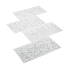 4 Piece Fondant Imprint Mat Set