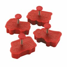 4 Piece Work Truck Fondant Press Set