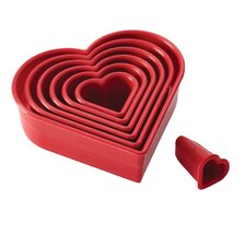 7 Piece Heart Fondant Cookie Cutter Set