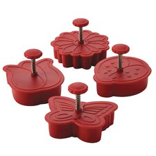 4 Piece Spring Fondant Press Set