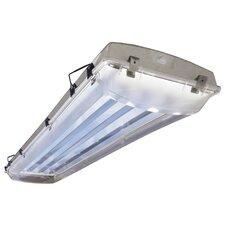 2 Light Vapor Proof High Bay Fluorescent Light Fixture