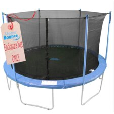 Round Trampoline Net Using 6 Poles or 3 Arches