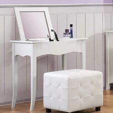 Sparkle Vanity Desk with Lift Top Mirror