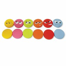 Emotions Kids Cotton Floor Cushion (Set of 6)