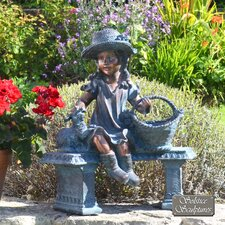 Girl on Bench Statue