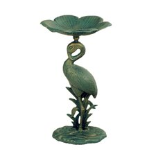 Flamingo Aluminium Bird Bath