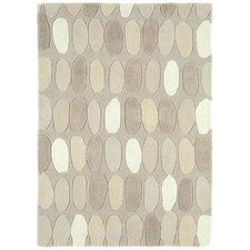 Handgewebter Teppich Matrix in Creme