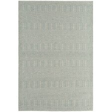 Handgewebter Teppich Sloan in Zartgrünblau