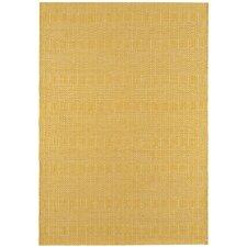 Handgewebter Teppich Sloan in Senf
