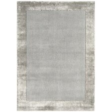 Handgewebter Teppich Ascot in Silber