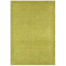 Handgewebter Teppich York in Grün