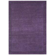 Handgewebter Teppich York in Lila